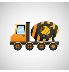 truck mixer concrete icon graphic vector image