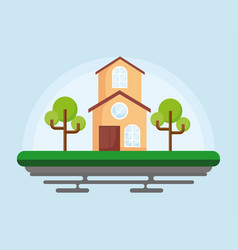 two-floor house icon vector image
