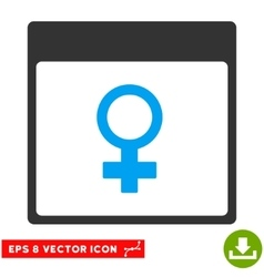 Venus female symbol calendar page eps icon vector