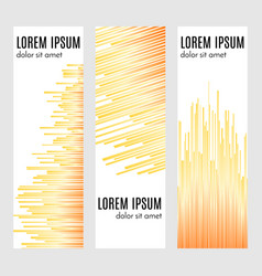 vertical header banners with curved lines vector image