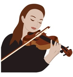 woman playing violin vector image