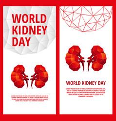 World kidney day flyer template vector