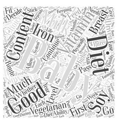 Your Vegetarian Baby Word Cloud Concept vector image
