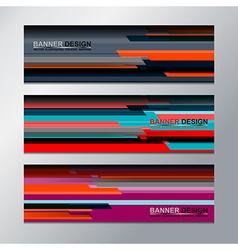 banner backgrounds design vector image vector image