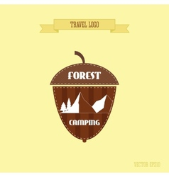 Camping wilderness adventure badge graphic design vector image vector image