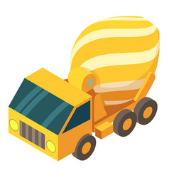 concrete mixer truck icon isometric 3d style vector image vector image