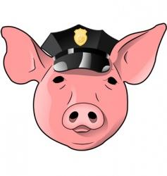 cop pig vector image vector image