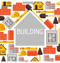 Industrial background design with housing vector image vector image