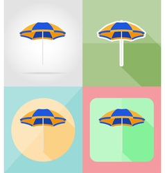 objects for recreation a beach flat icons 06 vector image vector image