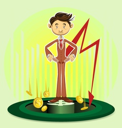 Bankruptcy vector image vector image