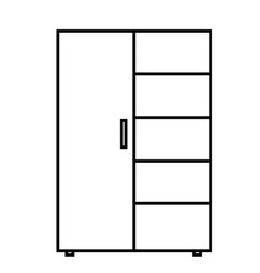 cupboard with shelf icon vector image vector image