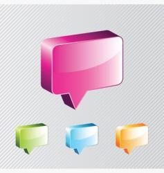 dialog box vector image