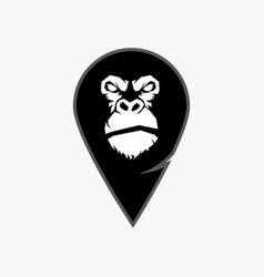 gorilla head monkey head ape face vector image