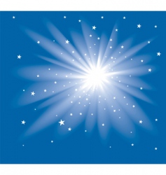 star at the blue sky vector image vector image
