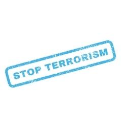 Stop terrorism rubber stamp vector