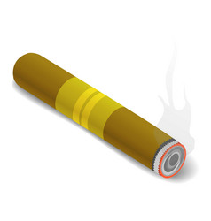 cigar icon isometric 3d style vector image