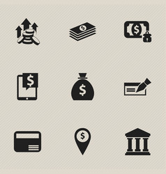 set of 9 editable investment icons includes vector image
