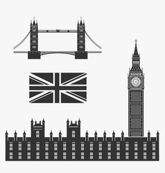 set of symbols of great britain vector image vector image