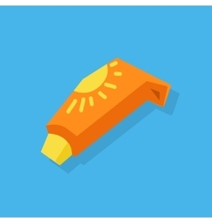 Sunscreen Care Sun Protection vector image vector image