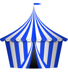 blue circus tent vector image vector image