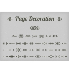 Calligraphic page decoration vector image vector image