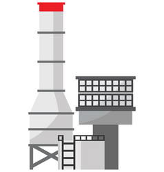 Petrochemical plant icon vector