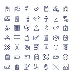 49 check icons vector