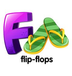 A letter F for flip-flops vector