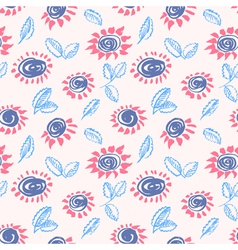 Abstract ink floral background vector image
