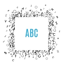 Alphabet frame isolated on white background vector