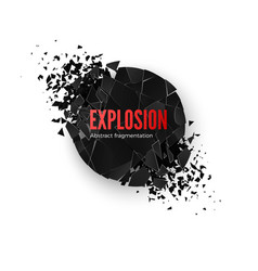 Banner explosion simulation explode and vector