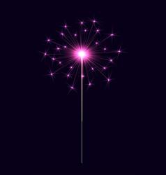 bengal sparkler pink vector image