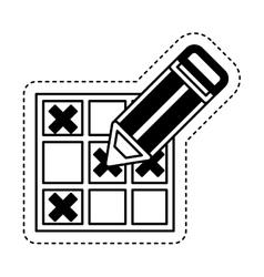 Bingo card isolated icon vector