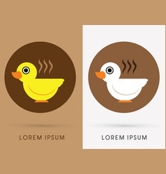 Bird cafe cup vector