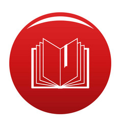 book bookmark icon red vector image