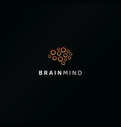 Brainstorming ideas emblem isolated artificial vector
