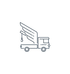 Breakdown truck with wings line logo concept vector image