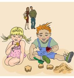 Children Having a Play Date vector