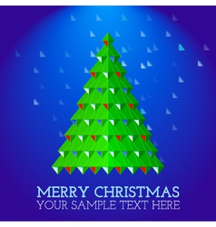 christmas-greeting-card-abstract-christmas-tree vector image
