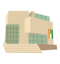 City building icon cartoon style vector