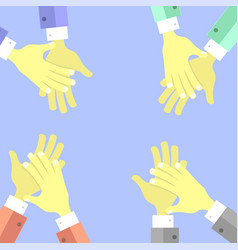 clapping hands set vector image