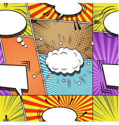 comic explosive creative seamless pattern vector image