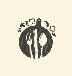 Cooking logo culinary art cuisine symbol vector