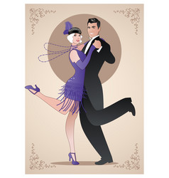 Couple wearing clothes in the style vector