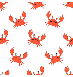 cute kids crabs pattern vector image