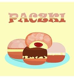 Doughnut praczki vector