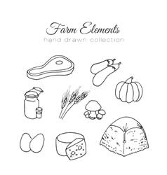 Farming farm elements Hand vector image