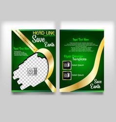 flyer design go green save earth vector image
