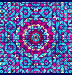 Geometric contrast line flower vector