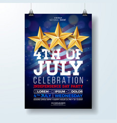 Independence day of the usa party flyer vector